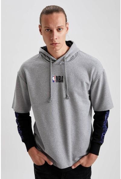 Defacto Nba Lisanslı Unisex Oversize Fit Kapüşonlu Sweatshirt