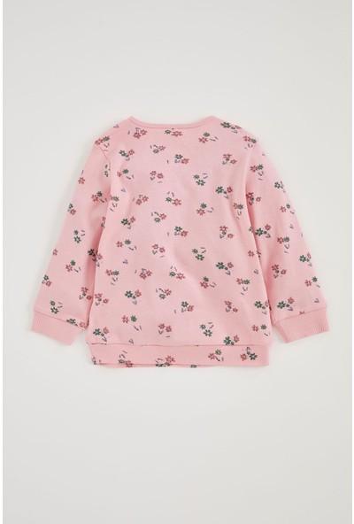 Defacto Kız Bebek Sweatshirt Ve Eşofman Alt Takım