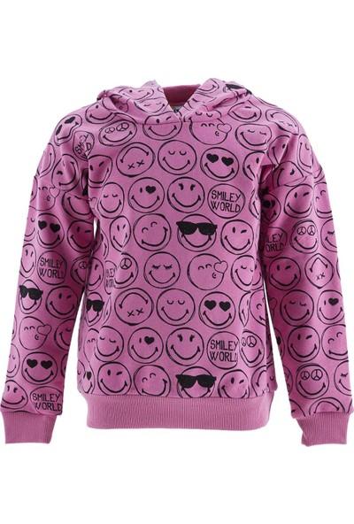 Defacto Kız Çocuk Smiley Lisanslı Sweatshirt