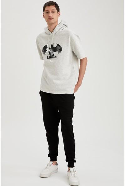 Defacto Batman Lisanslı Oversize Fit Kısa Kollu Sweatshirt