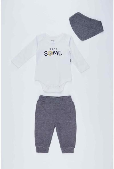 Defacto Erkek Bebek Baskılı Uzun Kol Sweatshirt 2'li Takım