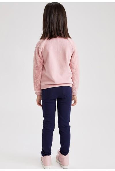 Defacto Kız Çocuk Slim Fit Unicorn Baskılı Tayt