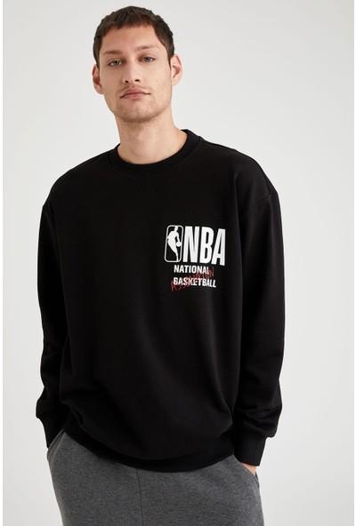 Defacto NBA Lisanslı Oversize Fit Sırtı Baskılı Sweatshirt