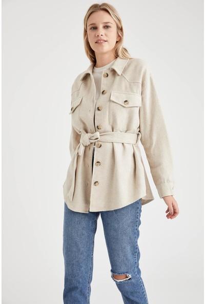 Defacto Oversize Gömlek Tunik Ceket