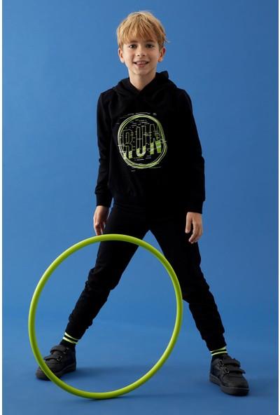 DeFacto Erkek Çocuk Baskılı Sweatshirt ve Eşofman Takım