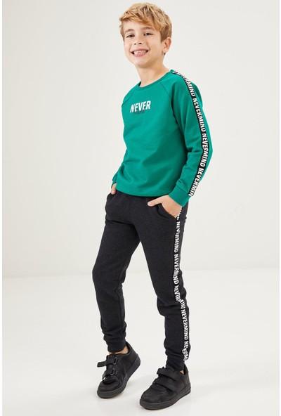 DeFacto Erkek Çocuk Baskılı Sweatshirt ve Jogger Eşofman Takım
