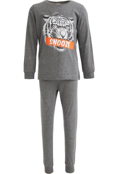 DeFacto Erkek Çocuk Kaplan Baskılı Pijama Takımı