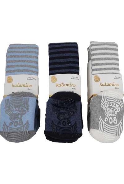 Katamino Kalın Havlu Külotlu Çorap 3 Adet (Alt Kaymaz)