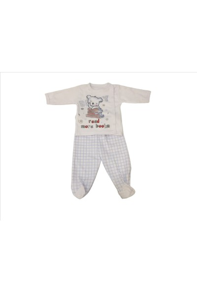 Necix Rapapa Erkek Bebe 2'li Zıbın Takımı 2208-