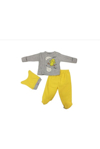 Necix Rapapa Erkek Bebe Zıbın Takım 9195-