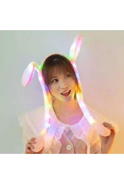 Nettenevime LED Pompalı Peluş Tavşan Kulağı Saç Bandı 3 Fonksiyonlu
