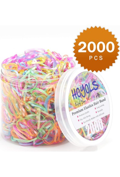 Black Point 2000 Adet Renkli Lastik Toka - Kız Çocuk Renkli Tokalar