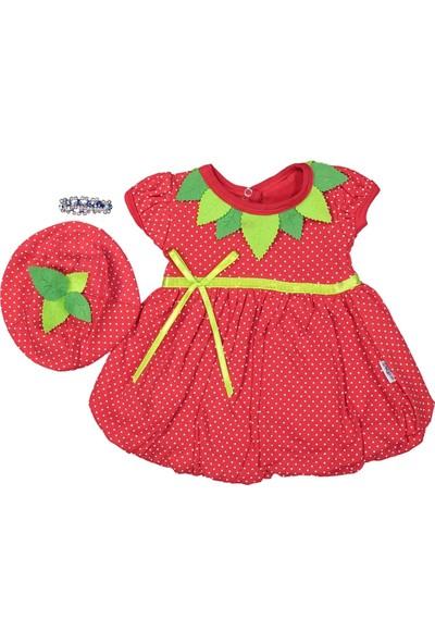 Babyrico Çilek Figürlü 3AY Bebek Elbise