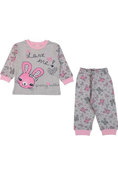 Minichic Loveme Tavşanlı 1 - 3 Yaş Kız Bebek Pijama Takımı