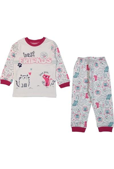 Minichic Kedili 4 - 6 Yaş Kız Çocuk Pijama Takımı