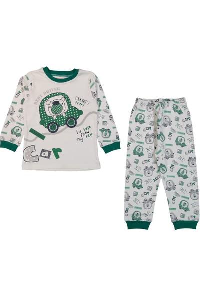 Minichic Car Baskılı 4 - 6 Yaş Erkek Çocuk Pijama Takımı