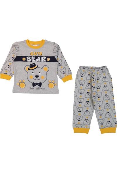 Minichic Cute Bear 1 - 3 Yaş Erkek Bebek Pijama Takımı