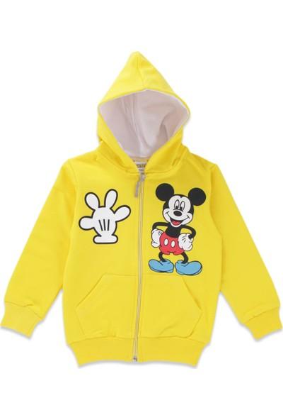 Mickey Mouse Erkek Çocuk Mickey Mouse Sarı Eşofman Takımı