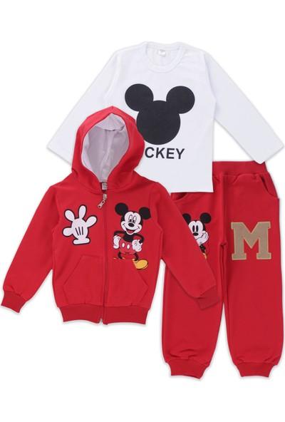Mickey Mouse Erkek Çocuk Mickey Mouse Kırmızı Eşofman Takımı