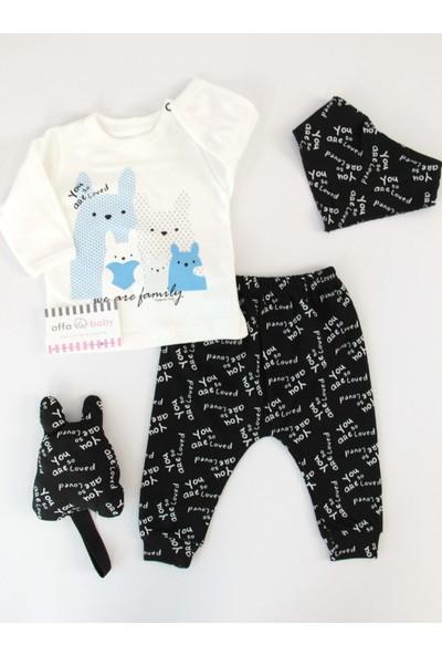 Hoppala Baby Tavşanlı 4lü Takım Mavi