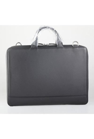 Guard Gerçek Deri Laptop ve Evrak Çantası Siyah Özel Üretim