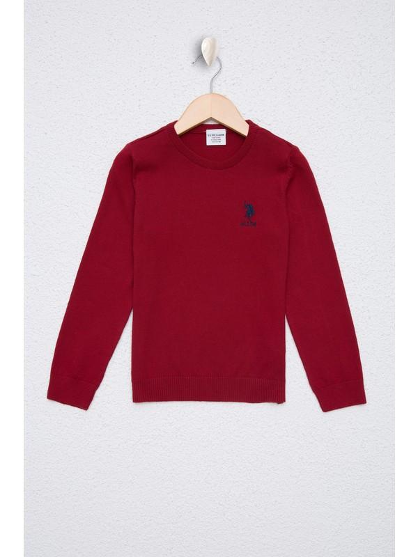 U.S. Polo Assn. Kırmızı Triko Kazak Basic 50224696-VR030
