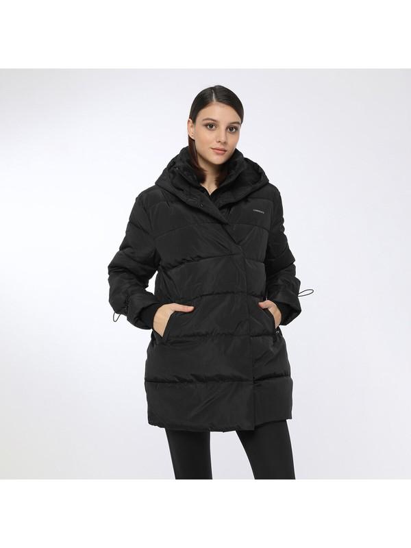Lumberjack Karına Coat Siyah Kadın Uzun Kaban