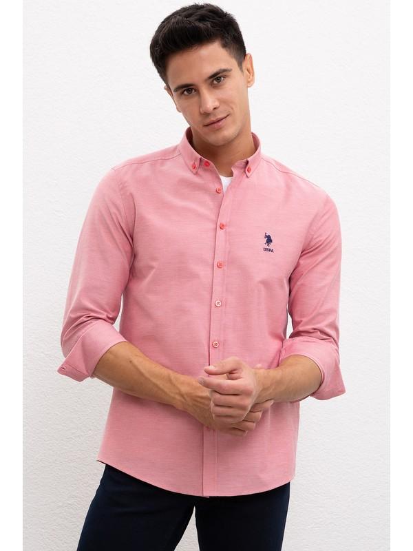 U.S. Polo Assn. Erkek Kırmızı Gömlek Uzunkol Basic 50233224-Vr030