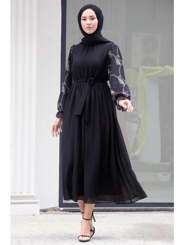 Meqlife Kolları Detaylı Elbise