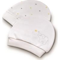 Biorganic Elephant Yenidoğan Kız Erkek Bebek 2 Li Şapka Ekru Sarı