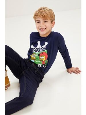 DeFacto Erkek Çocuk Kral Şakir Lisanslı Işıklı Tişört T3236A620AU