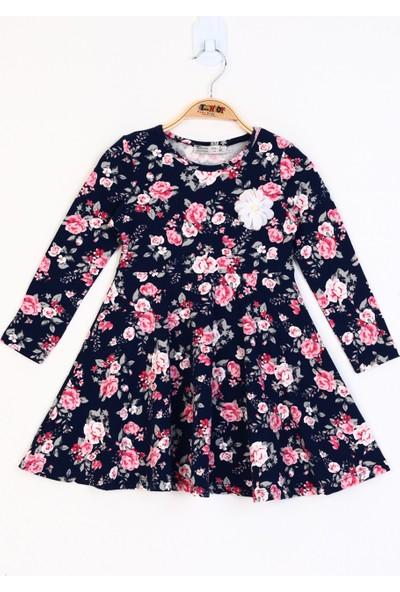 Toontoy Kız Çocuk Çiçek Desenli Elbise