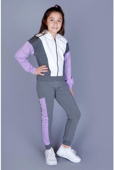 Toontoy Kız Çocuk Garnili Kapüşonlu Takım