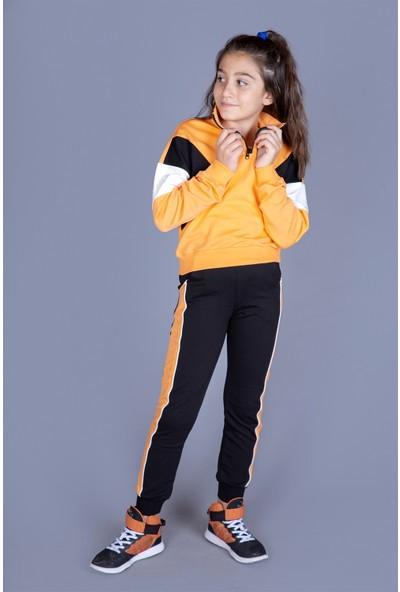 Toontoy Kız Çocuk Parçalı Garnili Takım