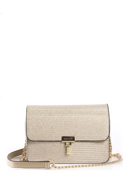 Silver & Polo Kadın Çapraz Çanta Altın 922
