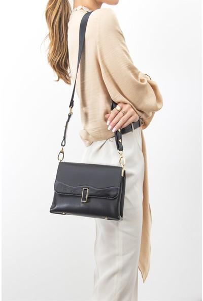 Silver & Polo Kadın Çapraz Çanta Siyah 971