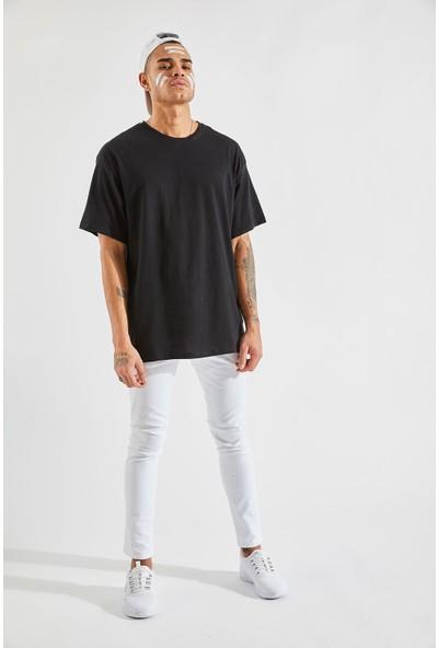 Zafoni Erkek Oversize Siyah Tişört P-00007948