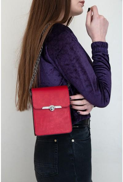 Byhakan HK-015 Kadın Çapraz Çanta Kırmızı