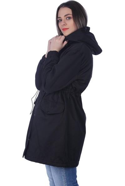 Whitney Jeans Kadın Trend Parka Modeli Siyah BMQ465BLACK