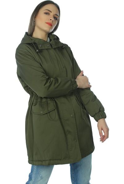 Whitney Jeans Kadın Trend Parka Modeli Haki BMQ465HAKI