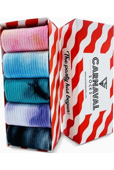 Carnaval Socks 5'li Batik Çorap Renkli Tasarım Set