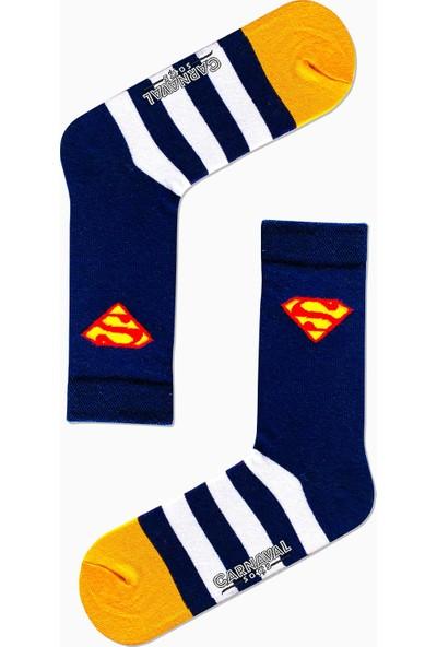 Carnaval Socks 7'li Süper Kahraman Desenli Renkli Çorap Set