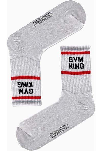 Carnaval Socks 7'li Gym Desenli Renkli Spor Çorap Set