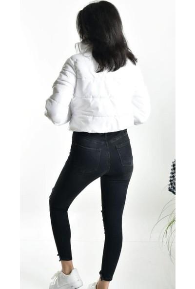 Woolnclyde Kadın Beyaz Şişme Mont
