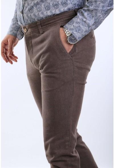 İntersivin Nrt-19 5 Cepli Pamuklu Kışlık Taba Erkek Pantolon