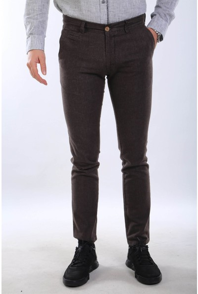 İntersivin Nrt-19 Pamuklu Kışlık Kahverengi Erkek Pantolon