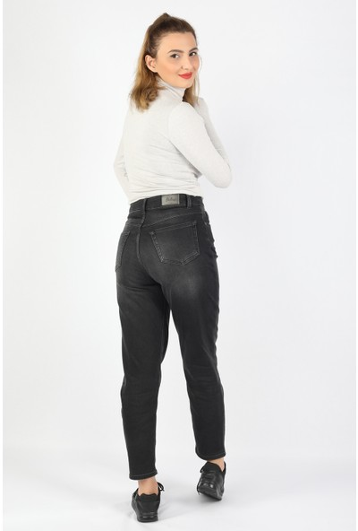 Balins Şardonlu Basic Jean Soldurmalı Siyah