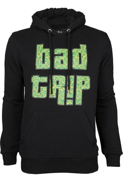 Bad Bear Trip Erkek Kapüşonlu Sweatshirt - Siyah