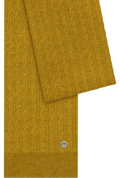 Hemington Erkek Lambswool Yün Sarı Atkı