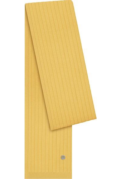 Hemington Erkek Sarı Merino Yün Atkı
